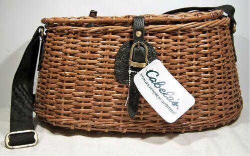 "Cabela's Split Willow Creek Creel Fishing Basket 16"" -  NEW w/ Tags"