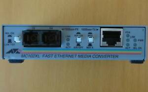 Allied Telesyn fibre to RJ45 media converter with PS MC102XL Mitchell Gungahlin Area Preview