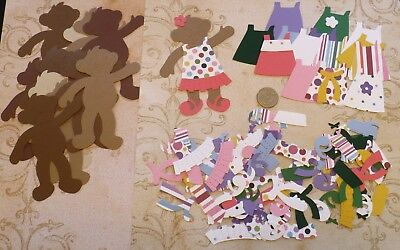 Paper Doll Shapes - Stampin Up Bear Paper Doll Girl Craft Die Cut shapes Dress Cardstock Paper