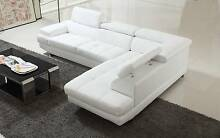 Ex-Display White Leather Modular Lounge Sorrento Joondalup Area Preview