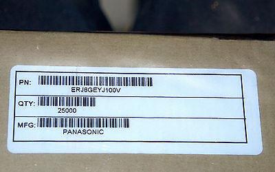 100000 New Pieces 20x 5k Reels Panasonic Erj6geyj332v Resistors 100000pcs.