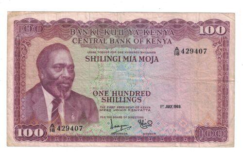 Kenya 100 Shillings P10.a 1969
