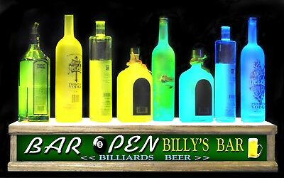 Remote Ct 24 Long Liquor Bottle Display Bar Display Personalized Billiards Sign