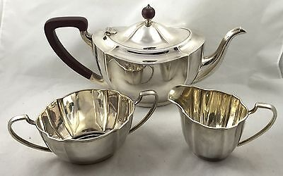 Antique Hallmarked Solid Silver Tea Set BARKER BROTHERS SILVER Ltd 1913 1014g