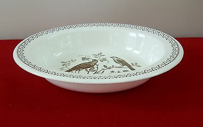 WEDGWOOD WILLIAMSBURG AVIARY OVAL VEGETABLE SERVING BOWL (PLATTER AVAIL) BIRDS