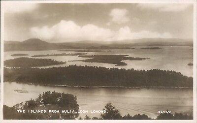 Real photo Loch lomond islands from mulia valentine