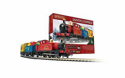 Hornby Santa's Express Christmas Toy Train Set R1248, Red, Blue & Yellow Single