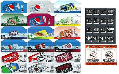 Coke Pepsi Soda Flavor Strips Vendinglabels 36 Total
