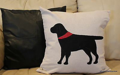 Dog Black Throw Pillow Cover Designer Beautiful Home Bandana Accent (Dog Designer Pillow)