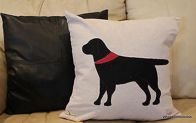 Dog Black Throw Pillow Cover Designer Beautiful Home Bandana Accent Labador ()