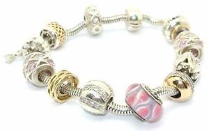 Sterling Silver And 10ct Yellow Gold Charm Bracelet Perth Perth City Area Preview
