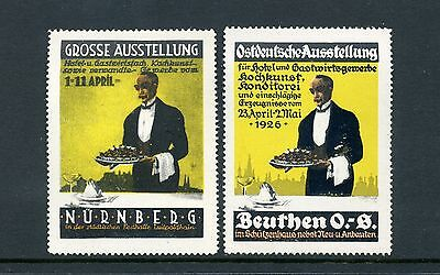 Vintage German Hotel   Hospitality Expo Guest Host Lot Of 2 Poster Stamps  L113