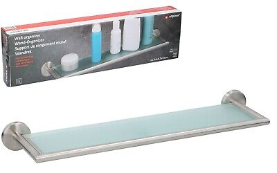 Floating Frosted Glass Shelve Storage Bathroom Kitchen Shelf + Fixings