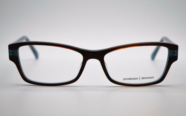 new auth prodesign denmark 1749 c6434 brownlight blue eyeglasses frames