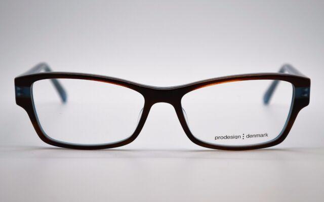 new auth prodesign denmark 1749 c6434 brownlight blue eyeglasses frames