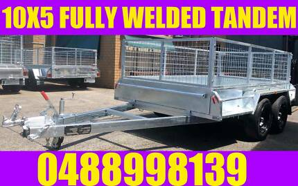10X5 FULLY WELDED GALVANISED TANDEM TRAILER W CAGE BOX TRAILER Clayton Monash Area Preview