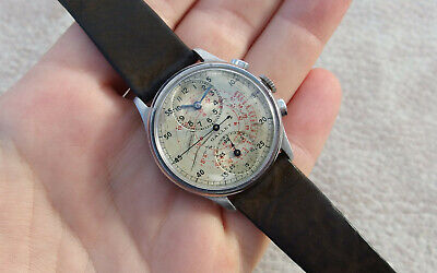 Gallet Watch Vintage Chronograph Regulator Swiss Made multiscal Original Dial