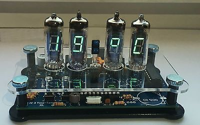 Bausatz Nixie Ära VFD IV-3 Uhr Temperaturanzeige + Gehäuse DIY Clock KIT