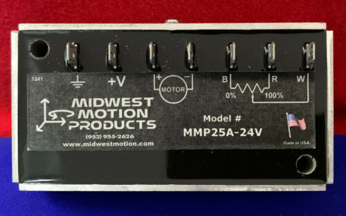 MIDWEST MOTION MMP25A-24V MOTOR SPEED CONTROL