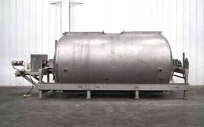 Mo-2524 Apv Crepaco 3000 Gallon Jacketed Horiz. Fermentation Processing Tank