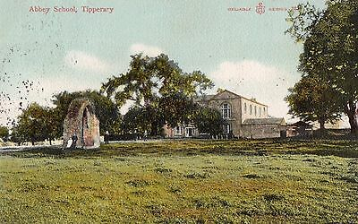 ABBEY SCHOOL TIPPERARY IRELAND RELIABLE SERIES IRISH POSTCARD POSTED 8-SEPT-1905