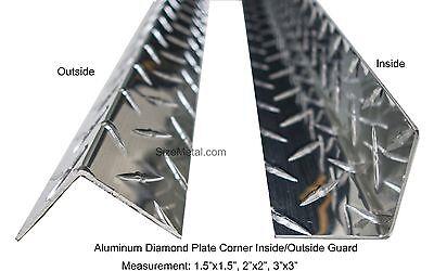 0.063 4ft Aluminum Diamond Plate Inside Corner Guard 3003 H22 - 1.5x1.5x48