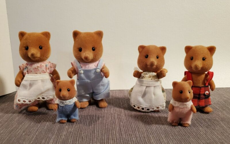 Vintage Calico Critters Sylvanian Families Slydale Fox family