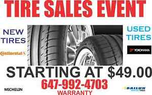 USED TIRES SALE Free installation & balance call