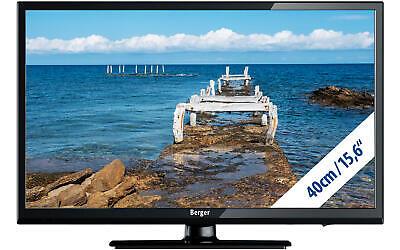 Berger Camping HD TV LED Fernseher 15,6 Zoll Flachbildschirm Wohnwagen