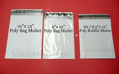 33 Poly Bag Poly Bubble Envelope Variety Pack 11 Each 10x13 9x12 2 8.5x12