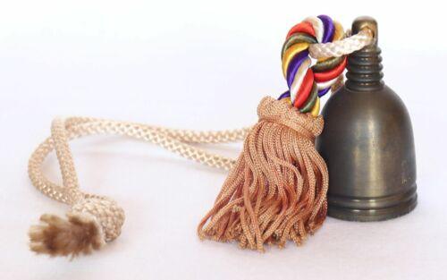 Japanese Brass Bell Tanjō-ji Buddhist Temple Lucky Charm Vintage