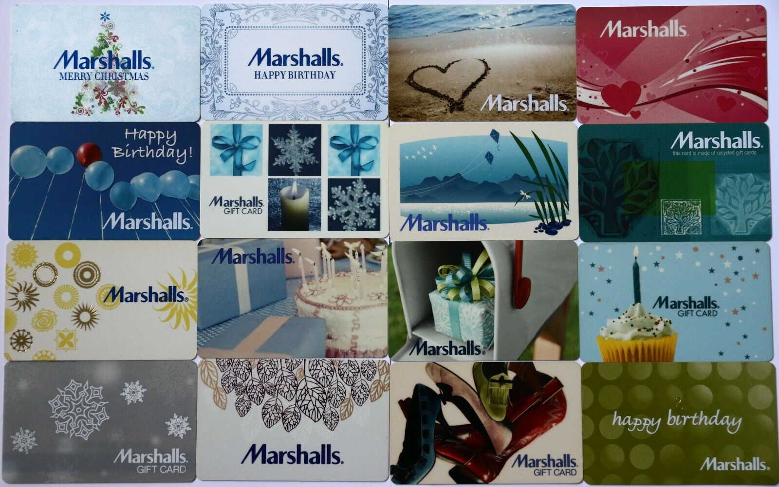 16 Marshalls Vintage Empty Gift Card Lot - $9.95