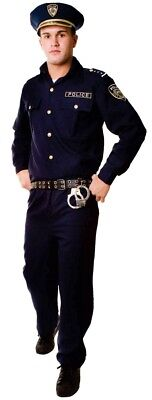 Police Adult Costume Mens Officer Cop Law Enforcement Halloween - Law Halloween Costumes