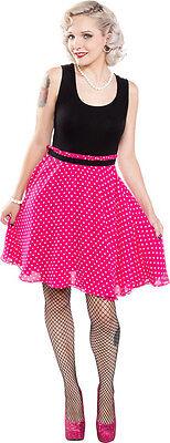 130343 Don't Eyeball Me Dress Sourpuss Pink & Black Polka Dots Pinup Large L NEW