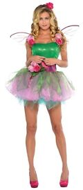 WOODLAND FAIRY / NYMPH /TINKERBELL FANCY DRESS OUTFIT SIZE 8/10 GREAT FOR PARTY OR HEN DO