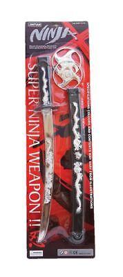 Spielzeug Teenage Ninja Krieger Schwert Set Kostüm Karate Kampfsport ()