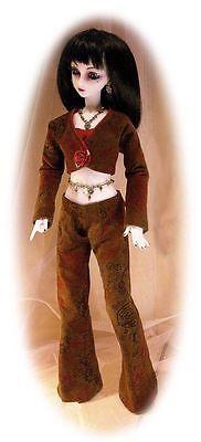 BJD SD Pattern 4 60cm Luts girls & similar bodies; pants, tiny top, jacket & hat