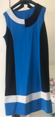 on sale 09a77 84142 Kleid Knielang Blau L