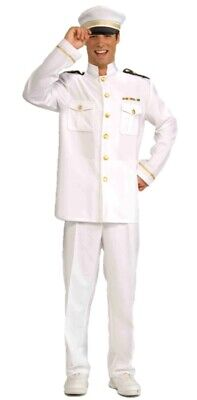 Captain Cruise Adult Halloween Costume Men Standard Sailor Navy Officer Suit](Sailor Halloween Costume Man)