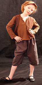 Victorian-Edwardian-BROWN-WORKHOUSE-URCHIN-BEGGAR-OLIVER-Costume-all-Ages-Sizes