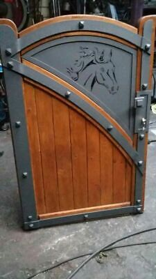 IRON WOOD HAND MADE GARDEN GATE  MADE TO MEASURE