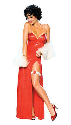Betty Boop Starlet Red Flapper Retro Cute Dress Up Halloween Sexy Adult Costume
