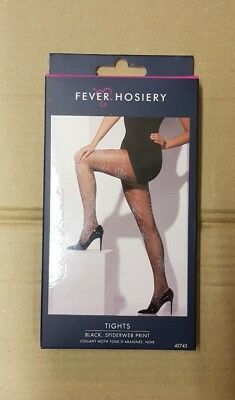 Fever Hosiery Tights - Black with Spiderweb Print One Size](Halloween Costumes With Tight Black Dress)