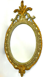 Beveled-Oval-Wall-Mirror-Hollywood-Regency-Ornate-Gold-Gilded-Large-59