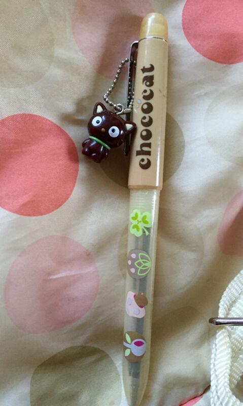 Vintage 1999 Chococat Ballpoint Pen & Fob Sanrio Hello Kitty Never Used Tokyo