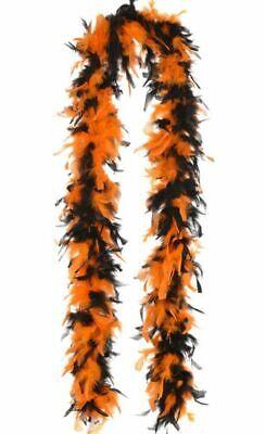 Black and Orange Turkey Feather Boa 55GM 6 ft 72