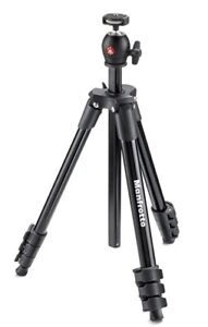 Brand new Manfrotto MKCOMPACTLIT-BK Compact Tripod (Black)