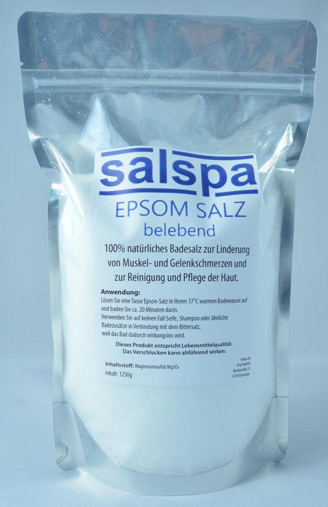 Bittersalz, Epsom-Salz, Badezusatz, Magnesiumsulfat 1250g Lebensmittelqualität