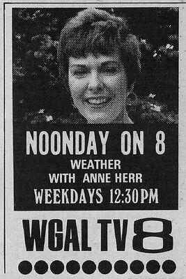 1974 Tv Ad Anne Herr Weathergirl On Wgal In Lancaster Pennsylvania News Promo
