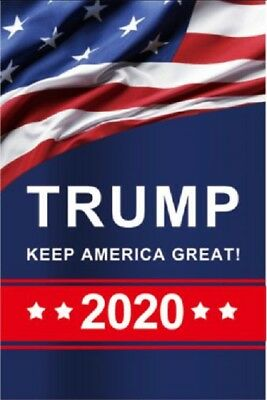 Trump 2020 Garden Flag Double Sided Keep America Great Yard Decor Sign Welcome